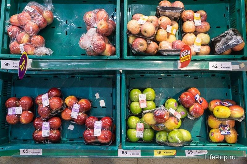 Яблоки, цена за упаковку