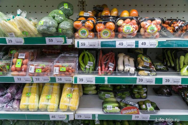 Овощи, все цены за упаковку
