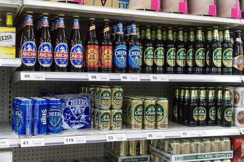 Пиво, цены за бутылку
