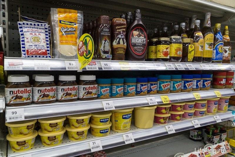 Сиропы, мед, нутела, арахисовая паста, масло в пластиковой емкости