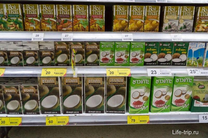 Готовые супы Roi Thai и кокосовое молоко