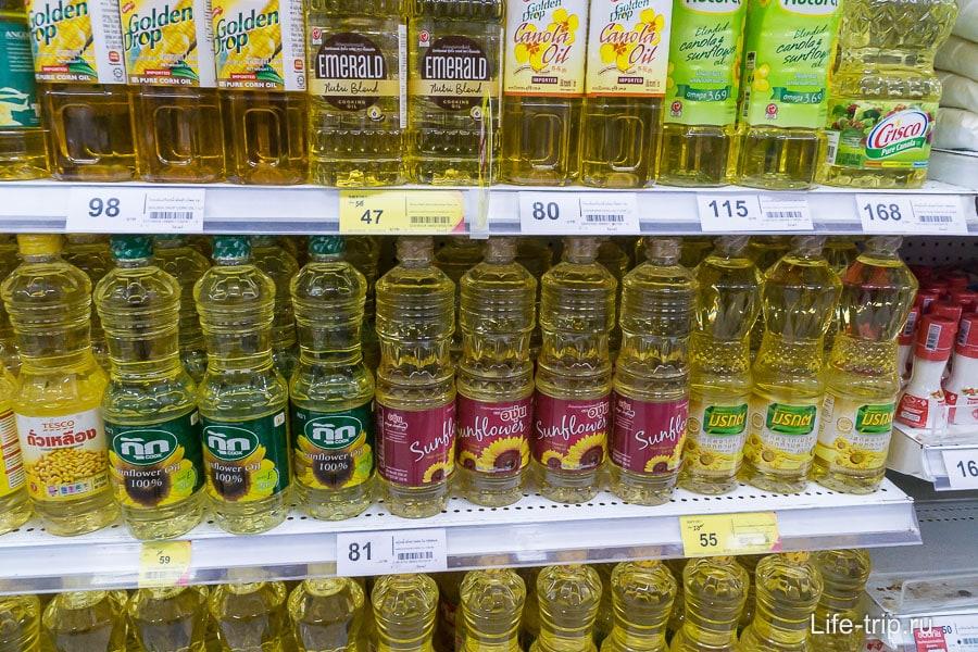 Подсолнечное масло от 51 бата