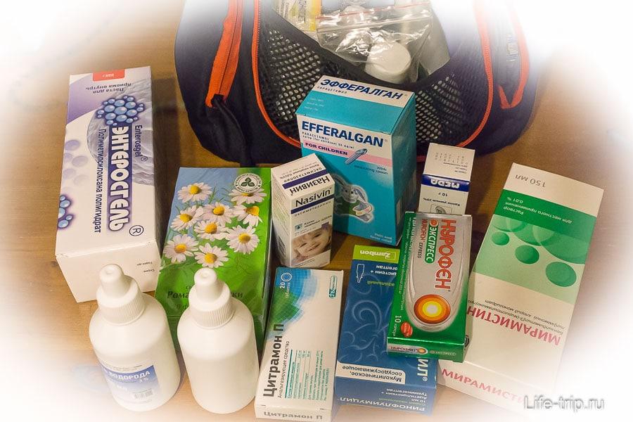 Аптечка для ребенка в путешествие