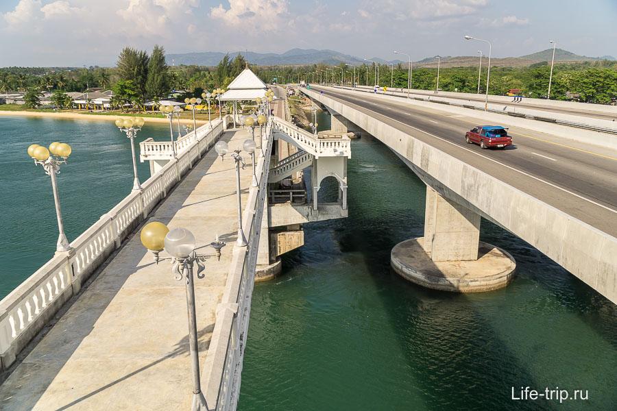 Пешеходный мост Сарасин на Пхукете