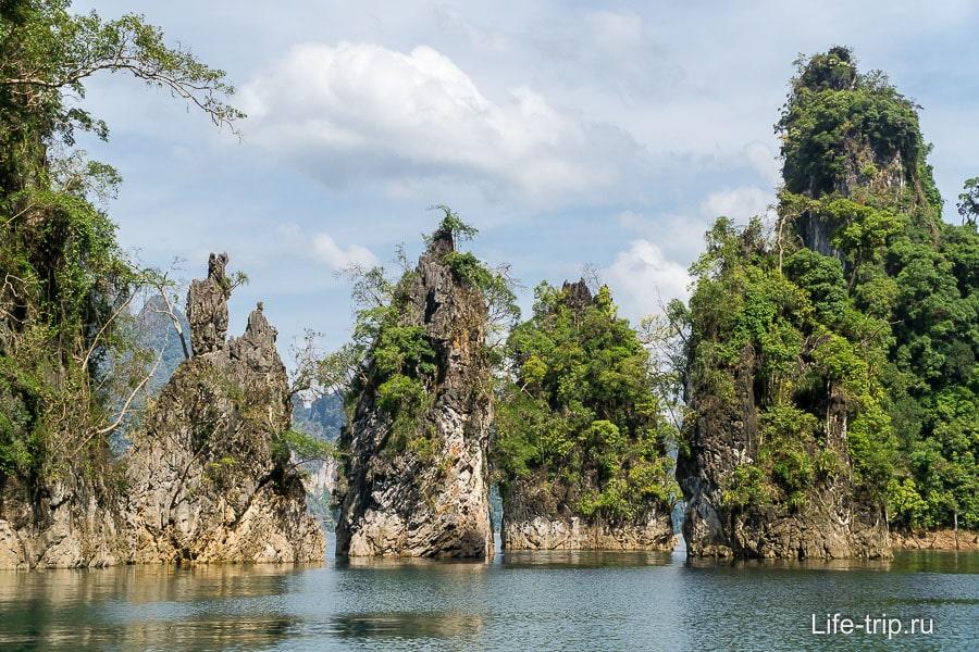Эти 3 скалы являются символом национального парка Као Сок