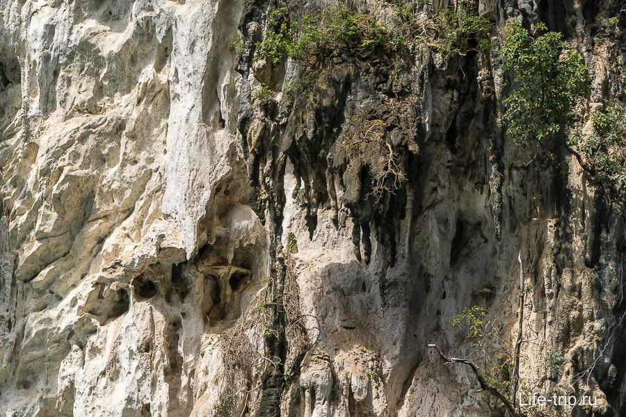 Вот как скалы выглядят вблизи