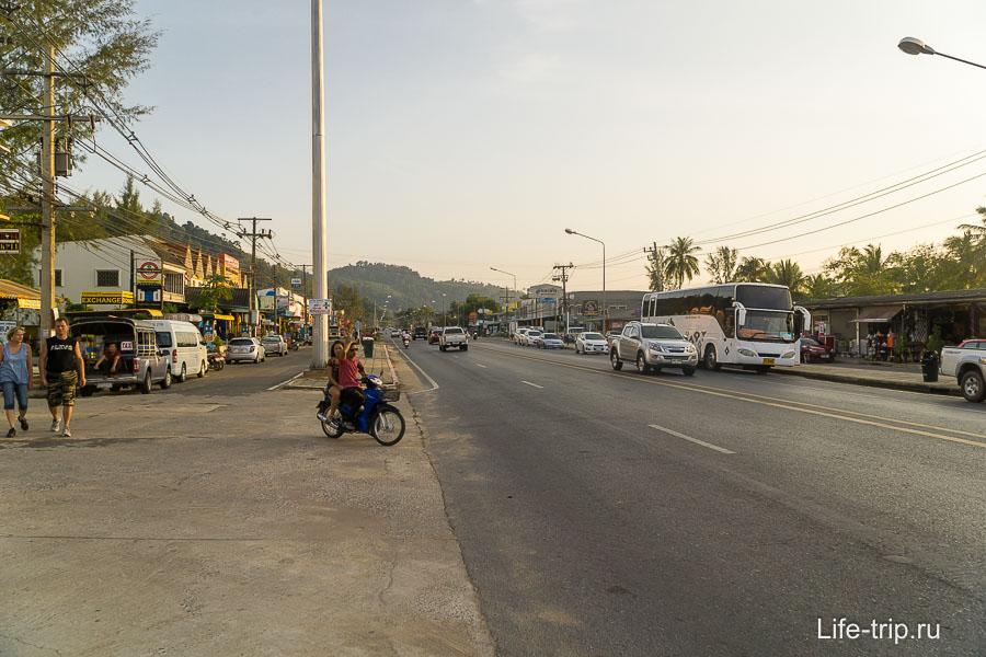 Трасса напротив Банг Нианг
