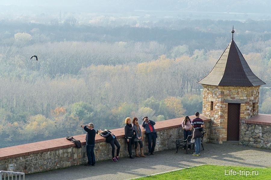 Смотровая площадка, откуда открываются виды на Братиславу