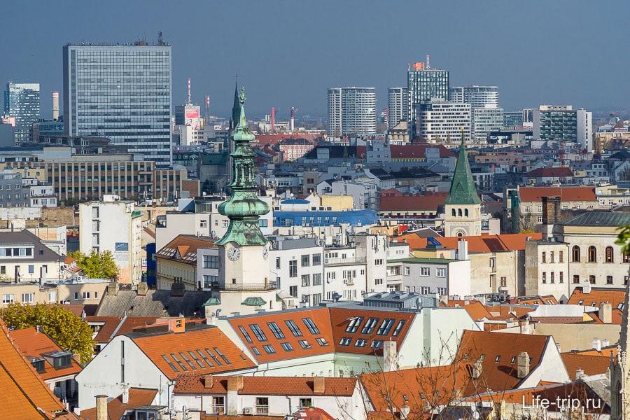 Вид на Старый город Братиславы