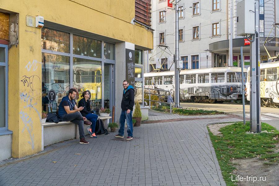 Просто улица около  Братиславского града