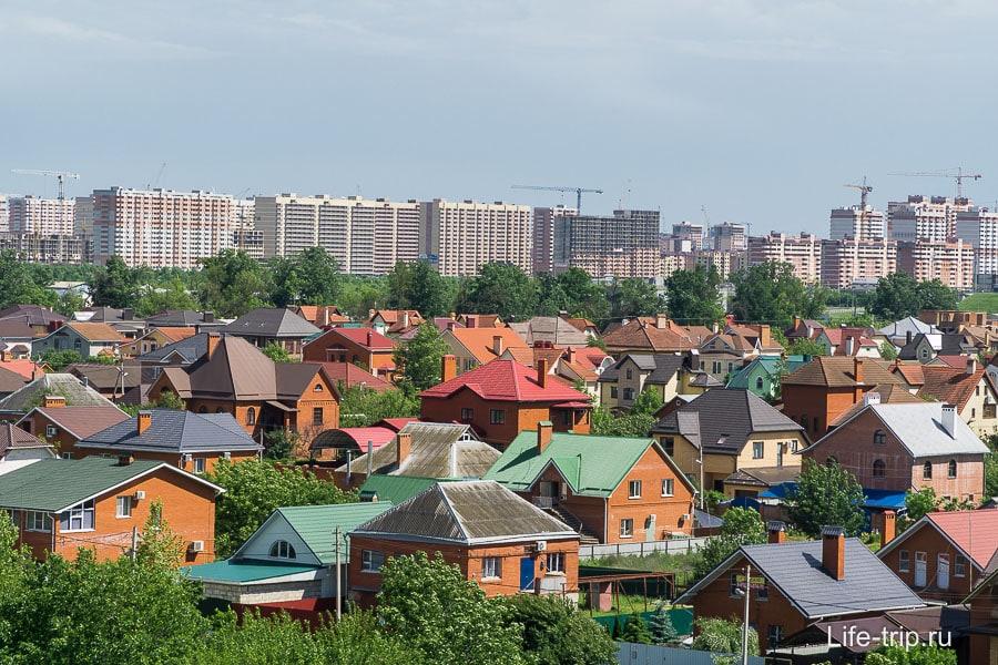 В Краснодаре глобальная стройка спальных районов, но пока половина города частный сектор