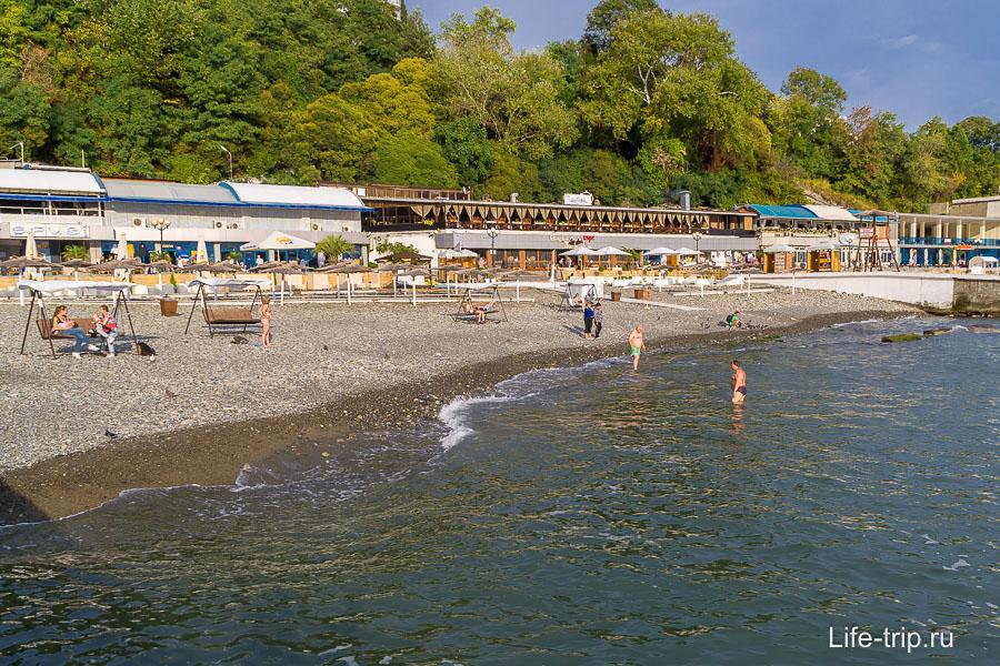 Центральный пляж в Сочи