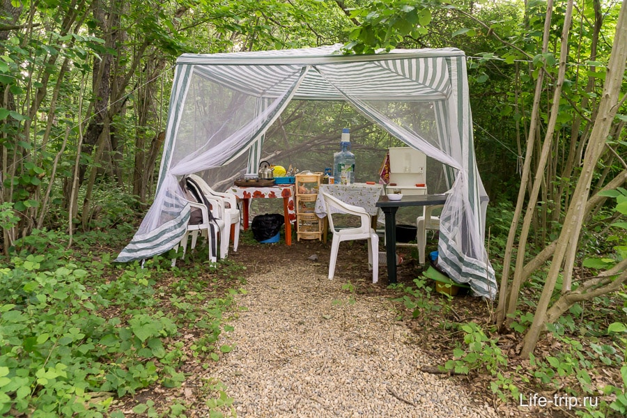Кухня в шатре
