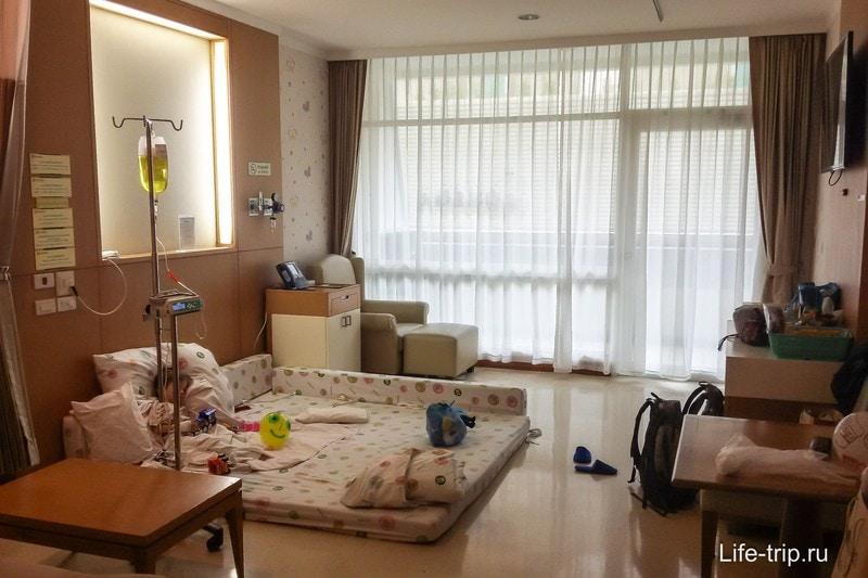 Палата в госпитале Samitivej Sukhumvit Hospital
