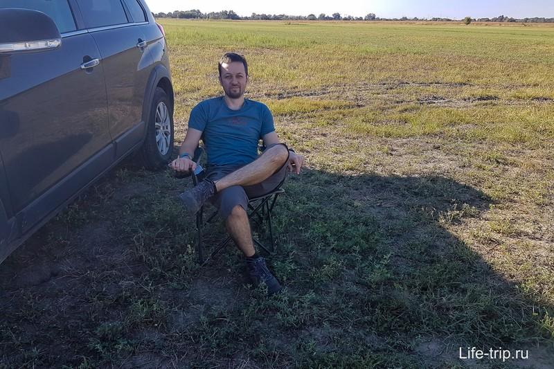 Работаем в полях. Как говорится, блогер сидит, работа идет :)