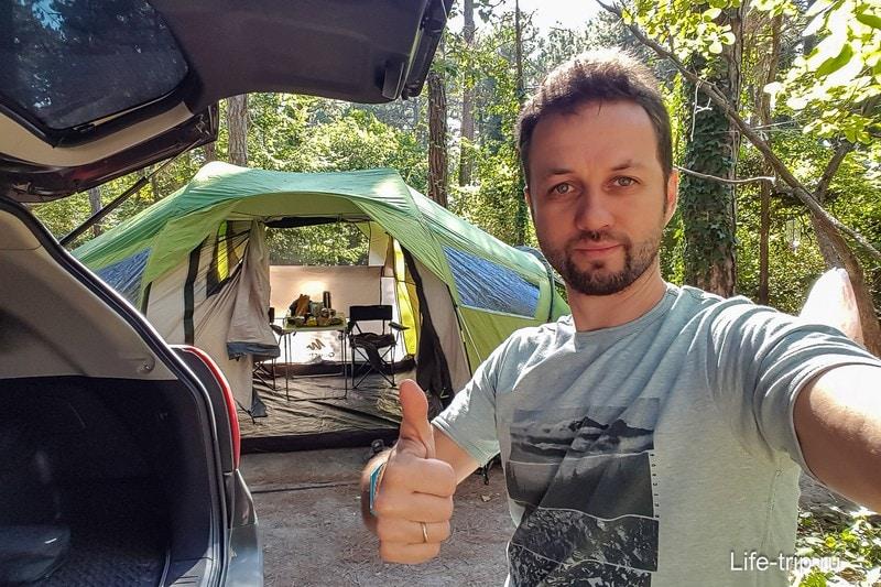 Несмотря ни на что, люблю палаточный отдых