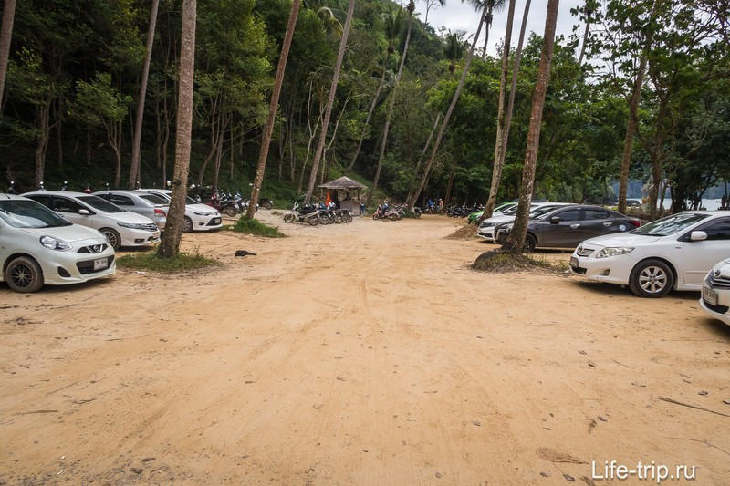 Парковка перед началом Monkey Trail