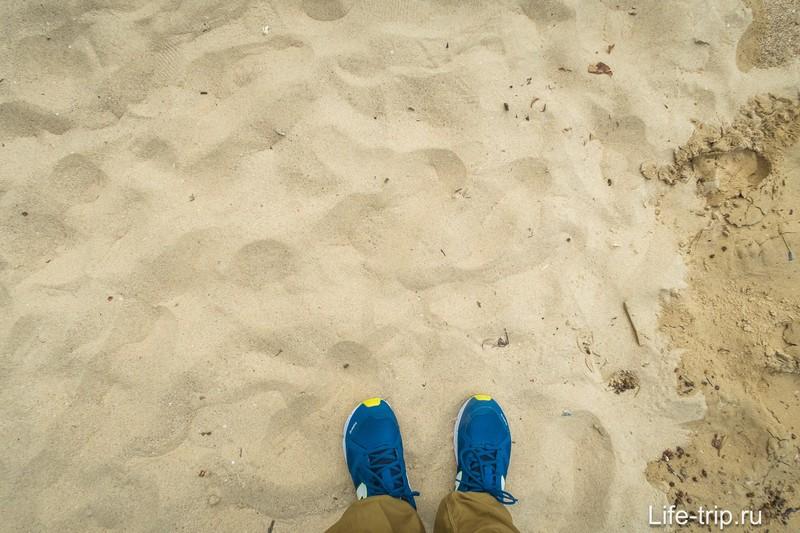 Песок рыхловат для прогулки, постоянно буксуешь