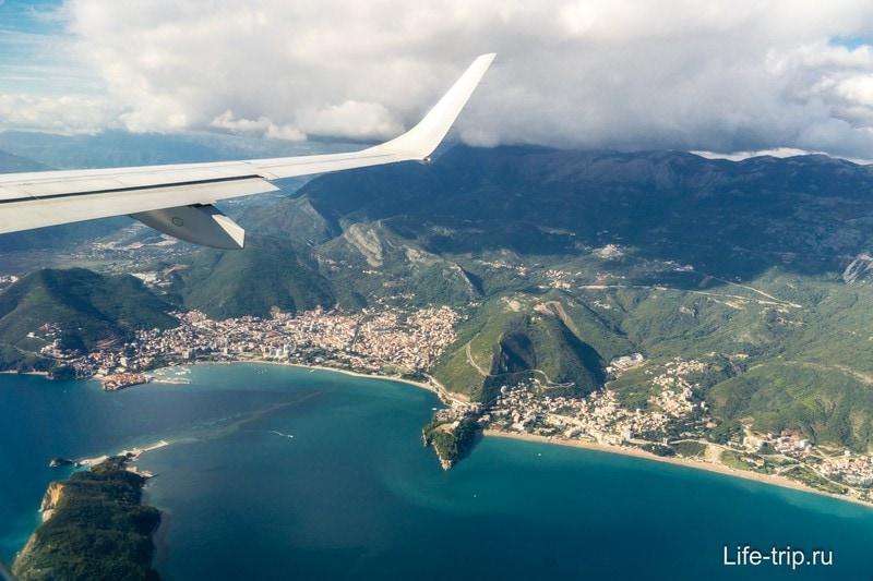 Черногория с самолета (Будва)