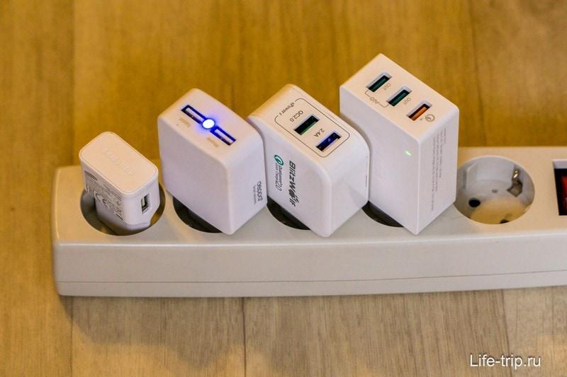 Слева направо: обычная Samsung, Deppa (сломалась), Blitzwolf, Aukey