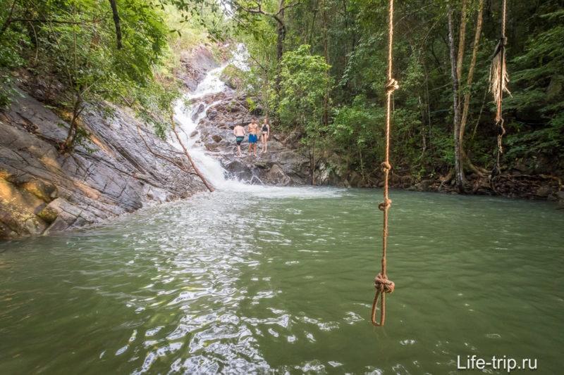 Парадайз Водопад на Пангане, купель с тарзанкой
