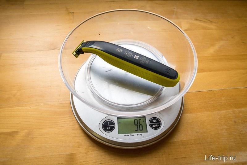 Philips Oneblade весит 96 гр