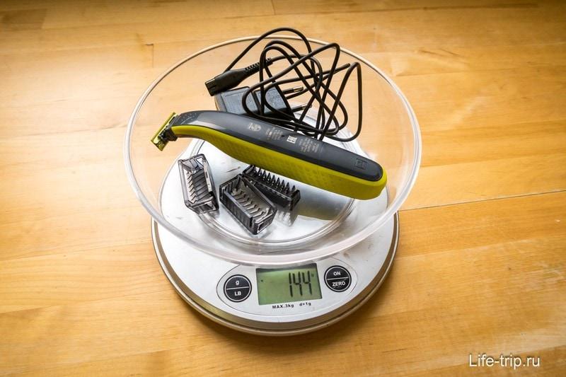 Вес машинки Philips Oneblade