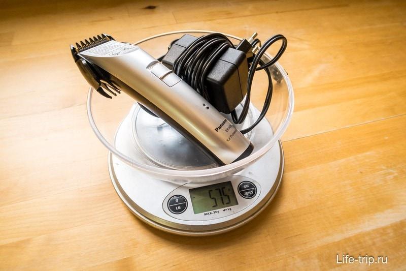 Вес машинки для стрижки Panasonic ER1420
