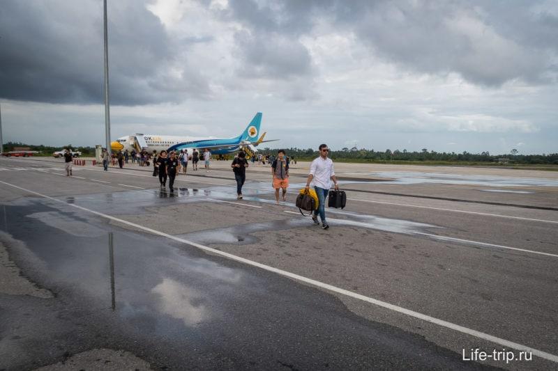 Перелет NokAir через Nakhon Si Tammarat и далее автобус и паром