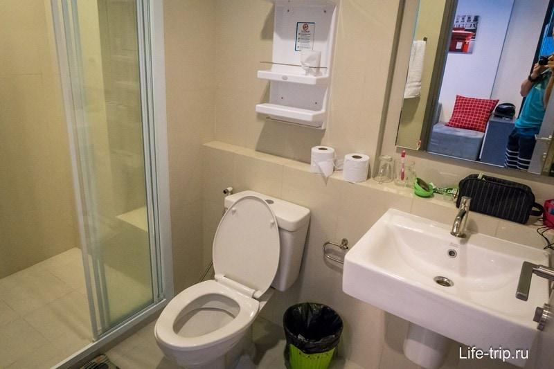 Санузел без ванны, только душ