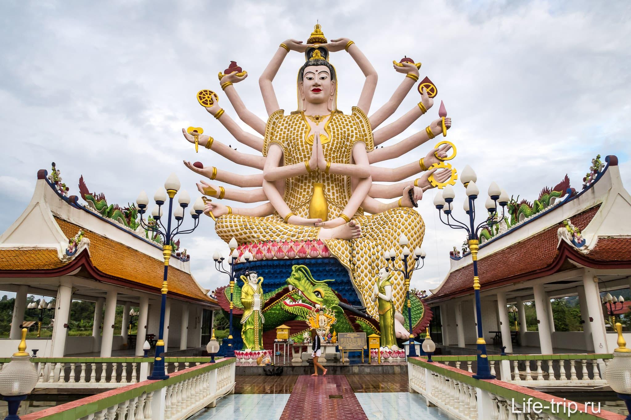 Это не Будда и не Шива. Это китайская богиня многорукая Гуань Инь