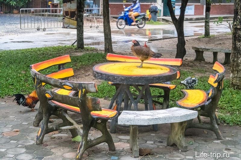 В тени можно присесть и перекусить - это нормальное явление в Таиландле