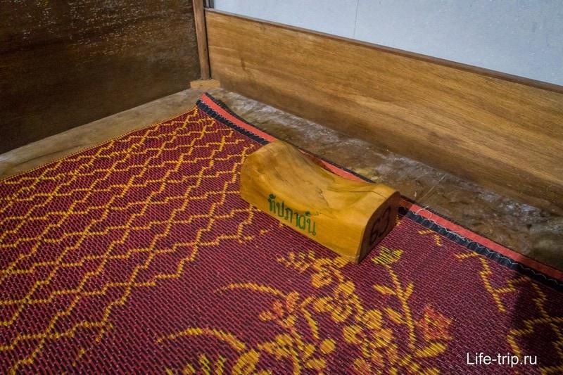 Деревянная подушка для совсем продвинутых