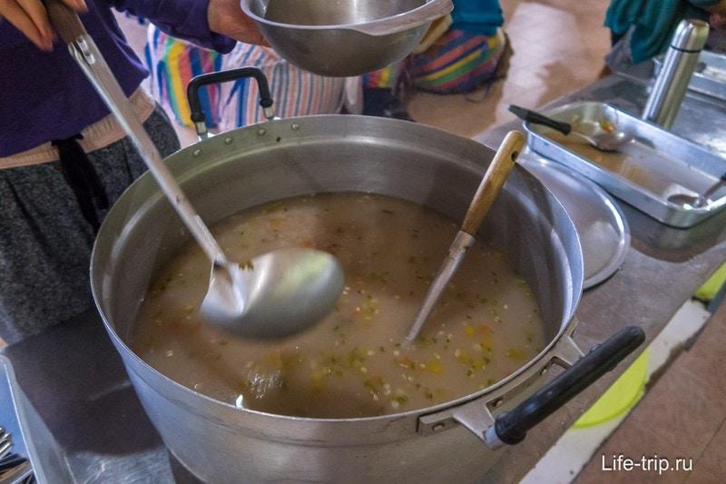 Внешне невзрачная, но вкусная рисовая каша с имбирем