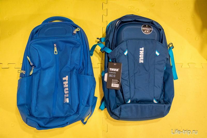 Обзор рюкзаков Thule EnRoute Blur 2 (справа) и Thule Crossover Backpack (слева)