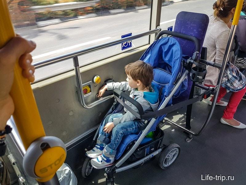 Едем в автобусе по Хайфе
