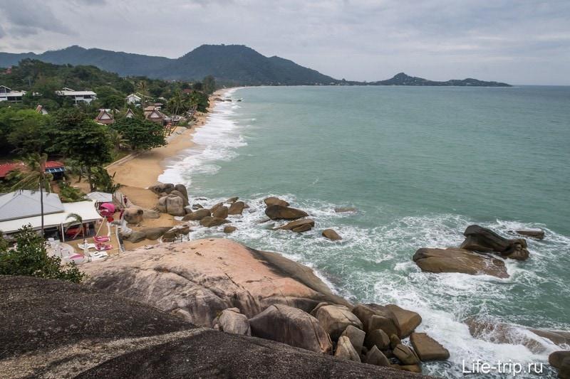 Вид со смотровой на пляж Ламай