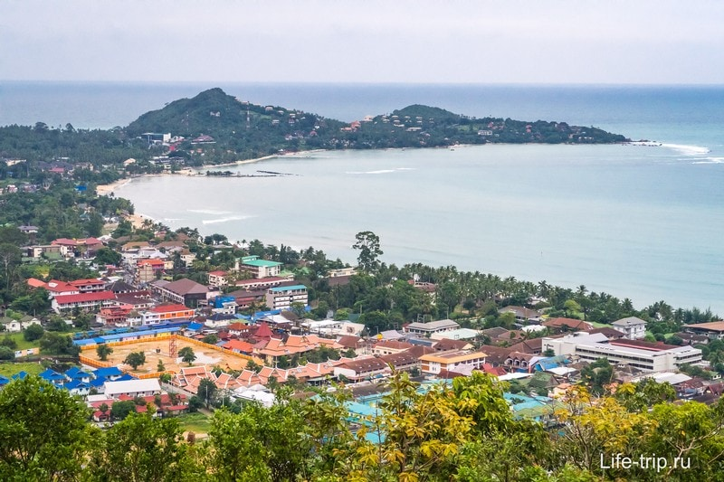 Вид на пляж Ламай