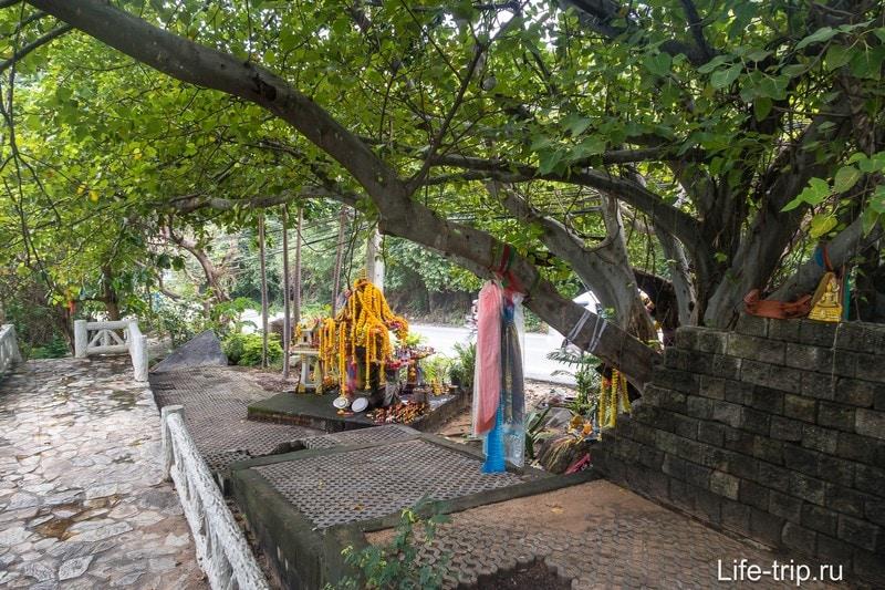 Дерево и домик духов