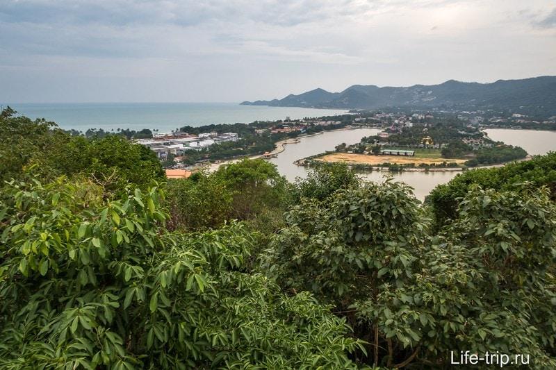 Вид на Чавенг и озеро