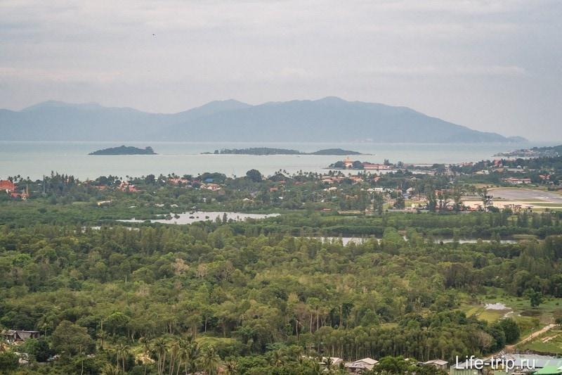 Затопленные низины Банг Рака и Панган на горизонте