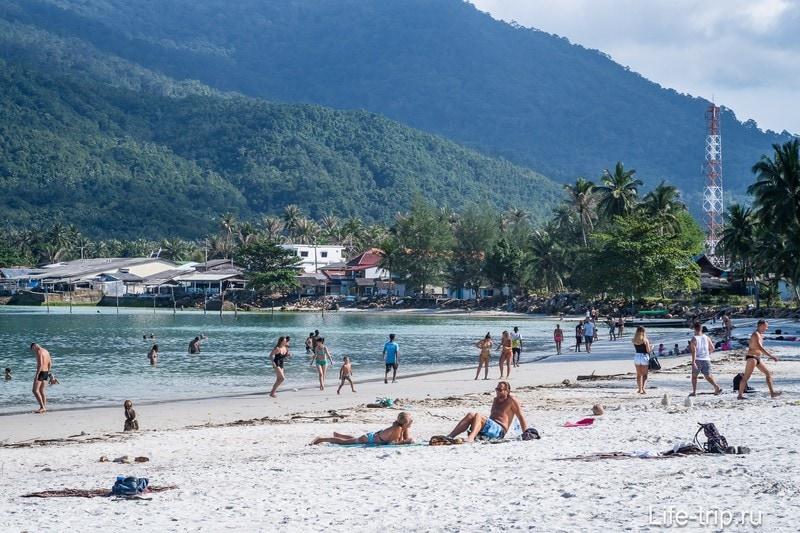 Пляж Чалоклам в приближении