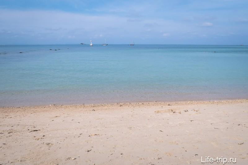 Середина пляжа радует видом