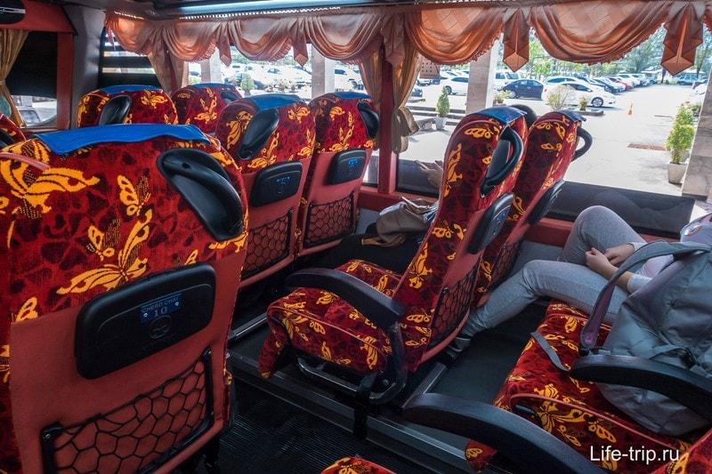 Автобус от аэропорта до пирса в Донсаке