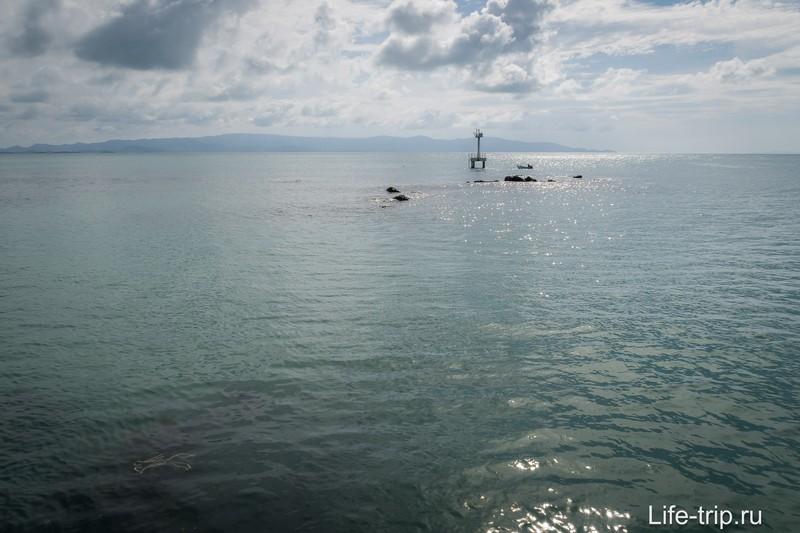 Вид на море с пирса