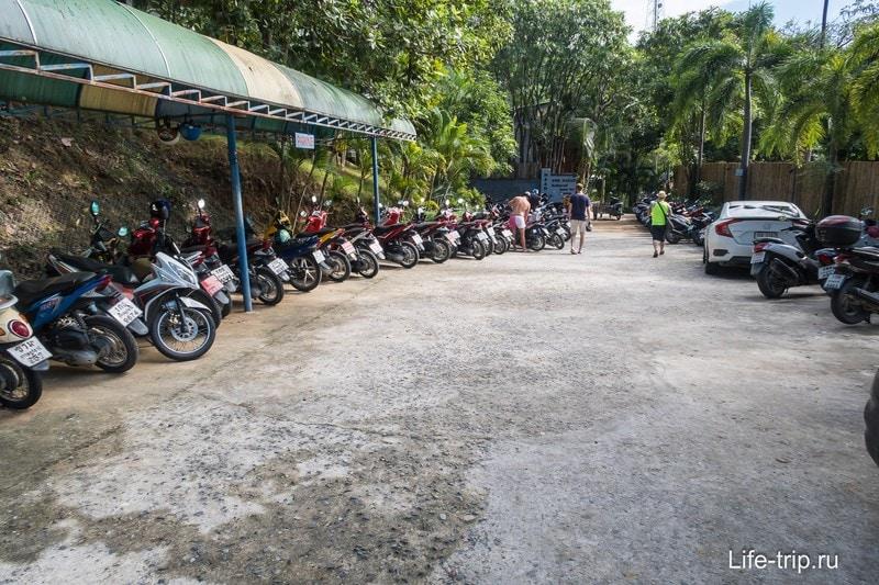Парковка резорта и гостевая