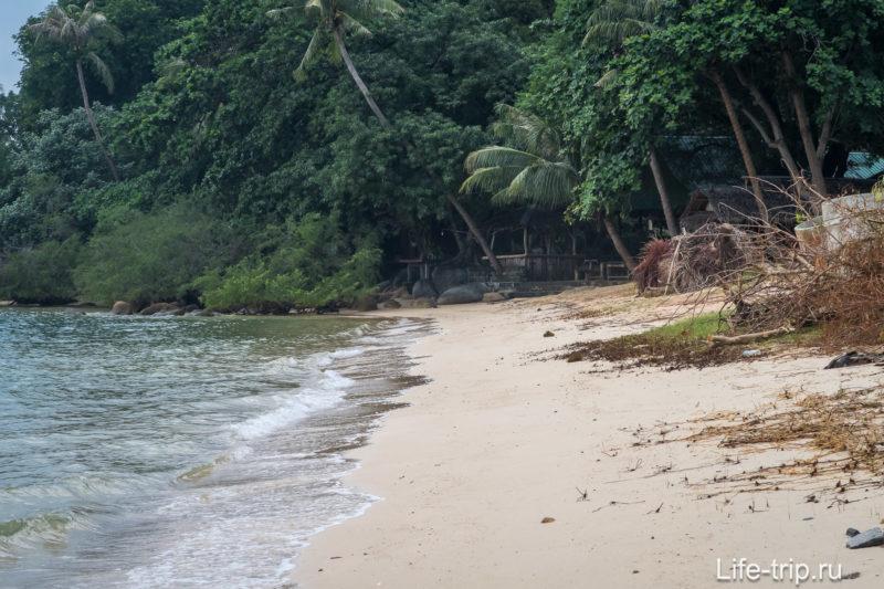 В приближении видно, что берег дальше вообще глухой, идти до конца не захотелось