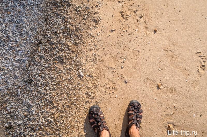Песок немного есть, не без этого