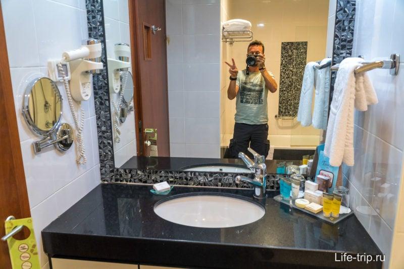 Второй санузел, с душем и ванной