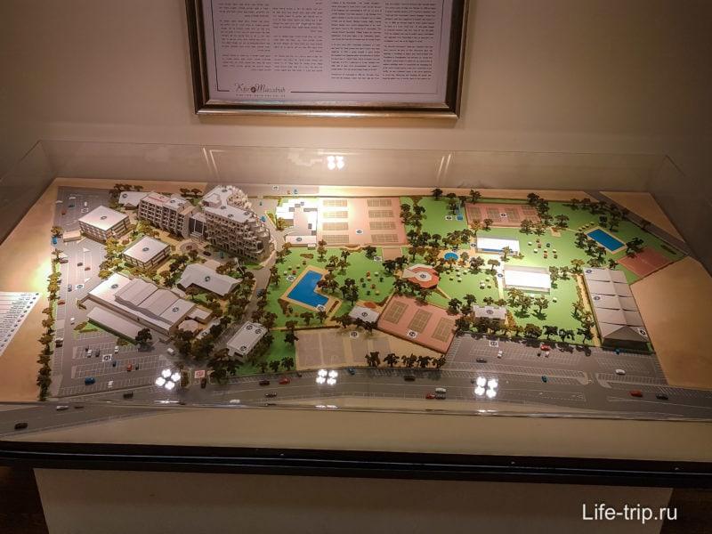 Макет территории отеля Kfar Maccabiah